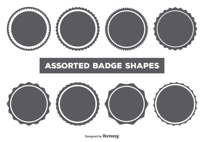 Website Vintage Vector Shapes Template Tag Style Sticker Stamp Sign Shield Shape Set