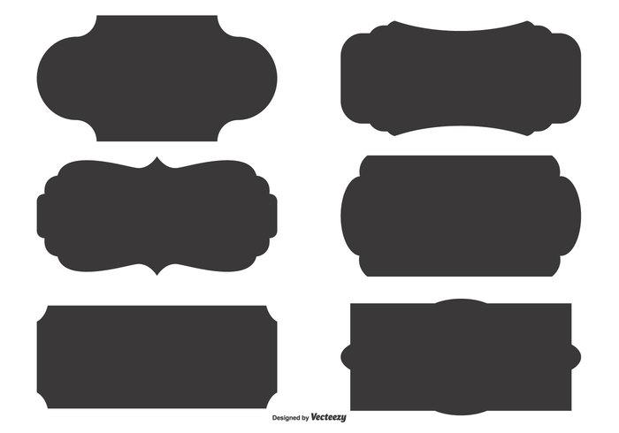 Vector Label Shape Set