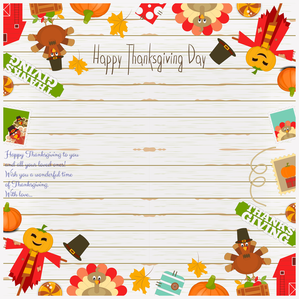 Thanksgiving frame vector material - WeLoveSoLo