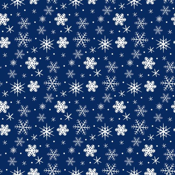 winter snowflake seamless pattern
