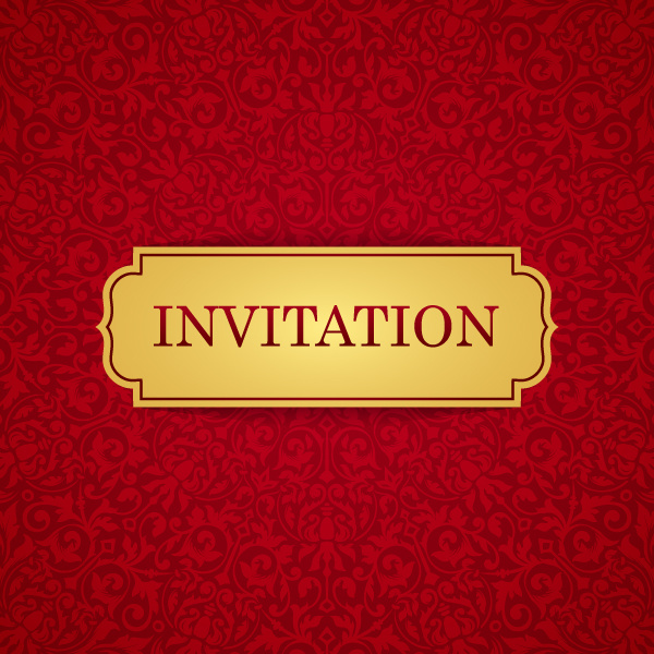 Red with golden invitation template vector 19 welovesolo stopboris Choice Image