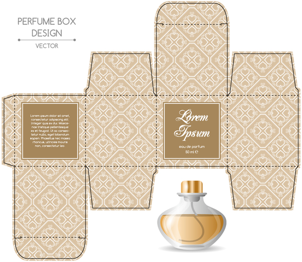 perfume box packaging template vectors material 10 welovesolo