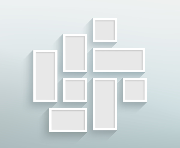 Blank white frames on the wall vector - WeLoveSoLo