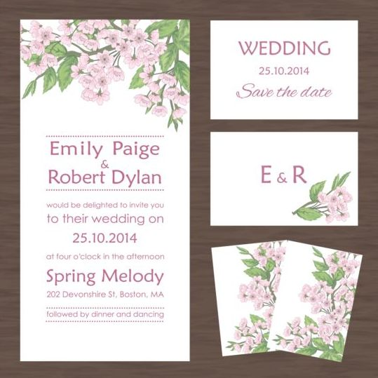 Wedding invitation card with autumn flower vectors welovesolo stopboris Images