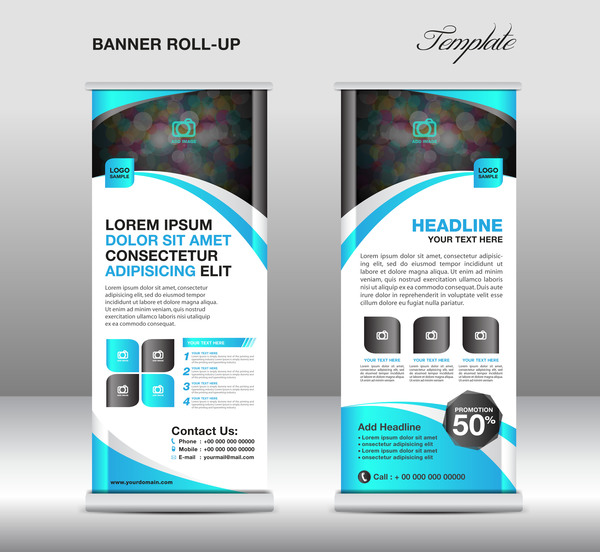 Perfect Banner Stand Template Pattern - Resume Ideas - namanasa.com