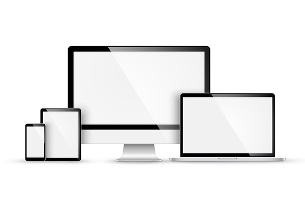 laptop with monitor and tablet prototype vector template 09 welovesolo