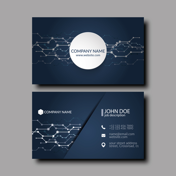 Dark blue business card template vector 05 welovesolo accmission Images