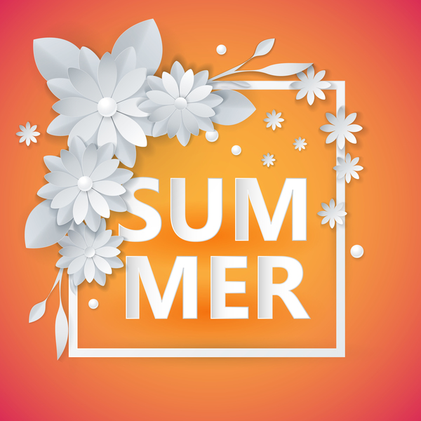 summer frame flower