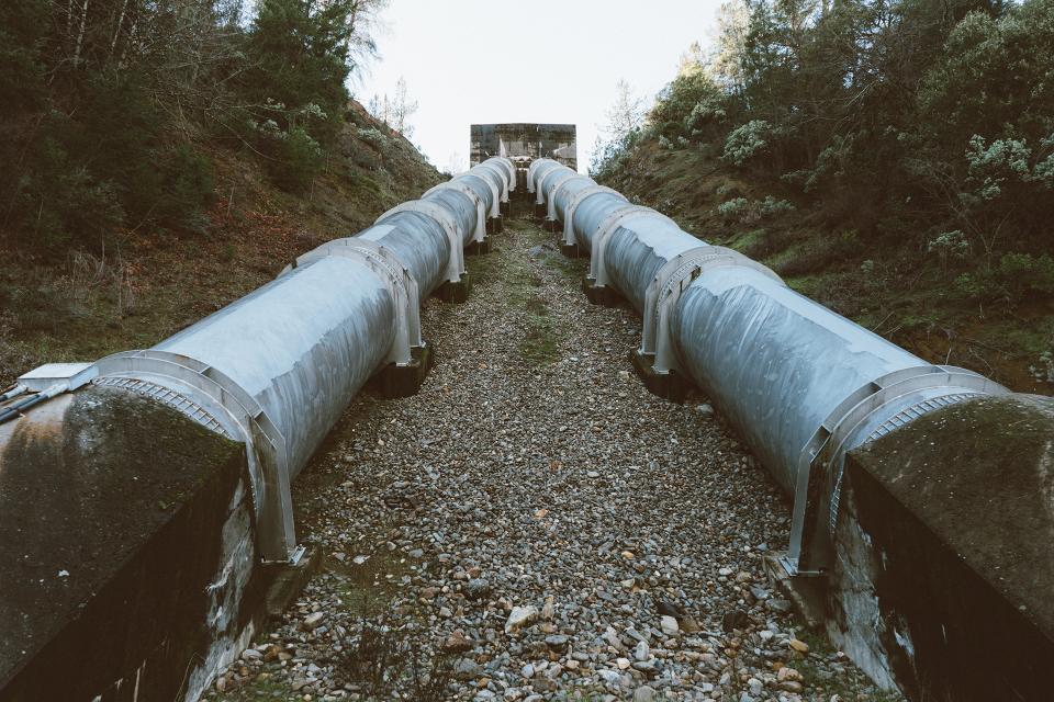 steel rocks pipes pipeline industrial