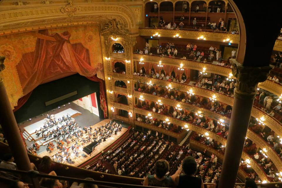 theatre TeatroColon stage spectators show seats play people crowd BuenosAires art Argentina