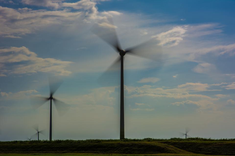 windmills sky rural