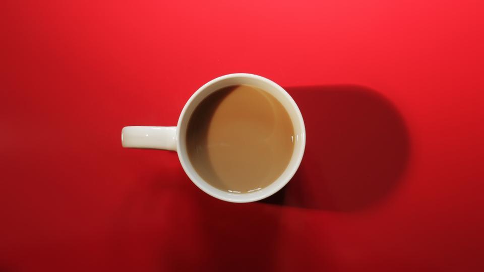 red mug cup coffee