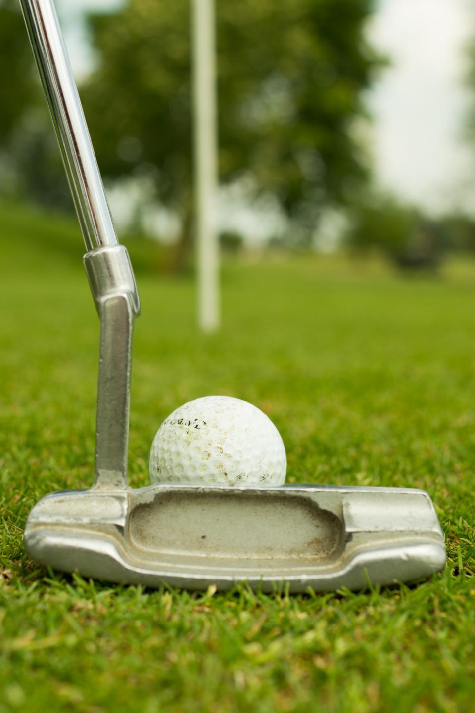 sports putter green golf ball