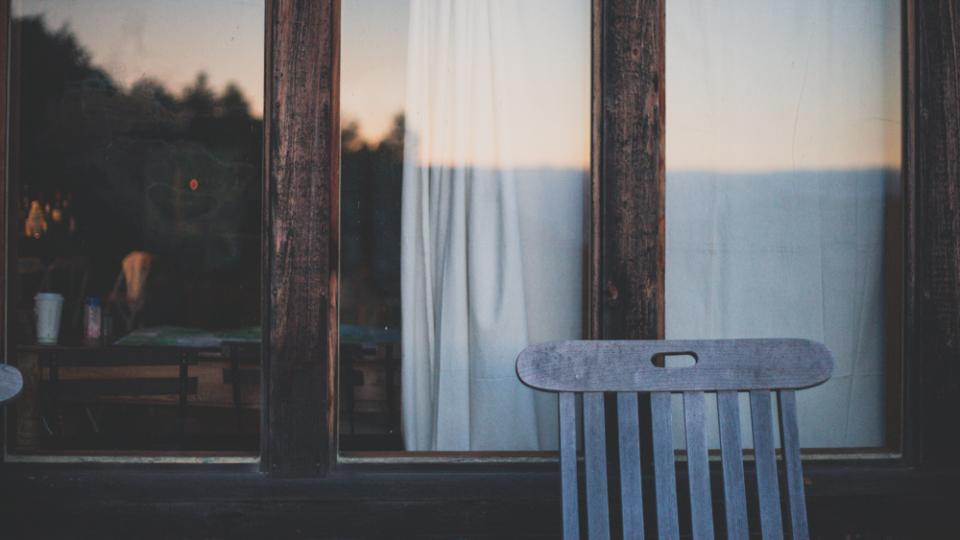 wood Windows curtains chair