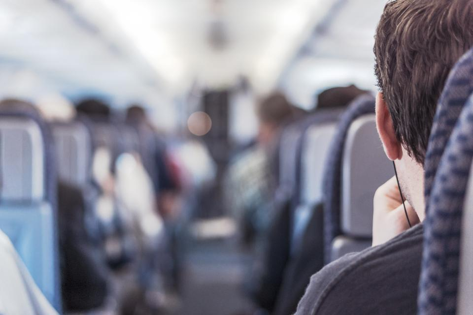 trip travel transport seats aisle airplane