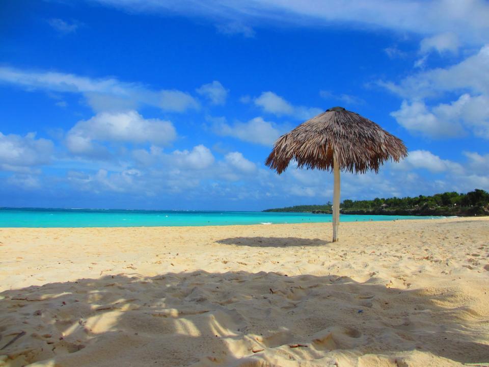 water vacation umbrella tropical Shade sea sand resort ocean blue beach