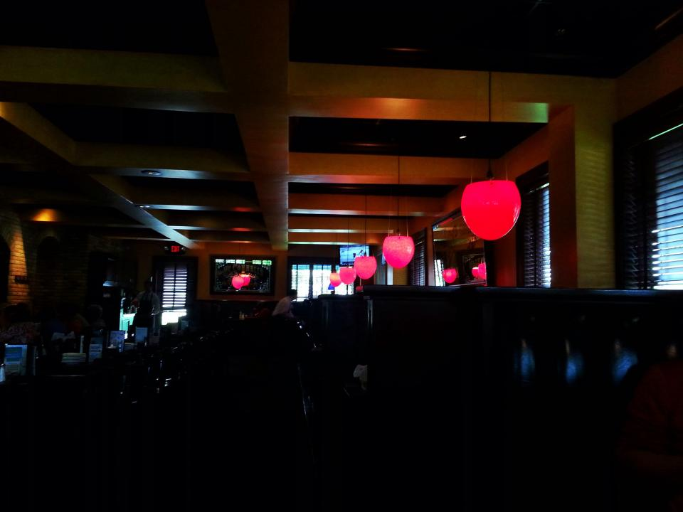 tables restaurant lights chairs bar