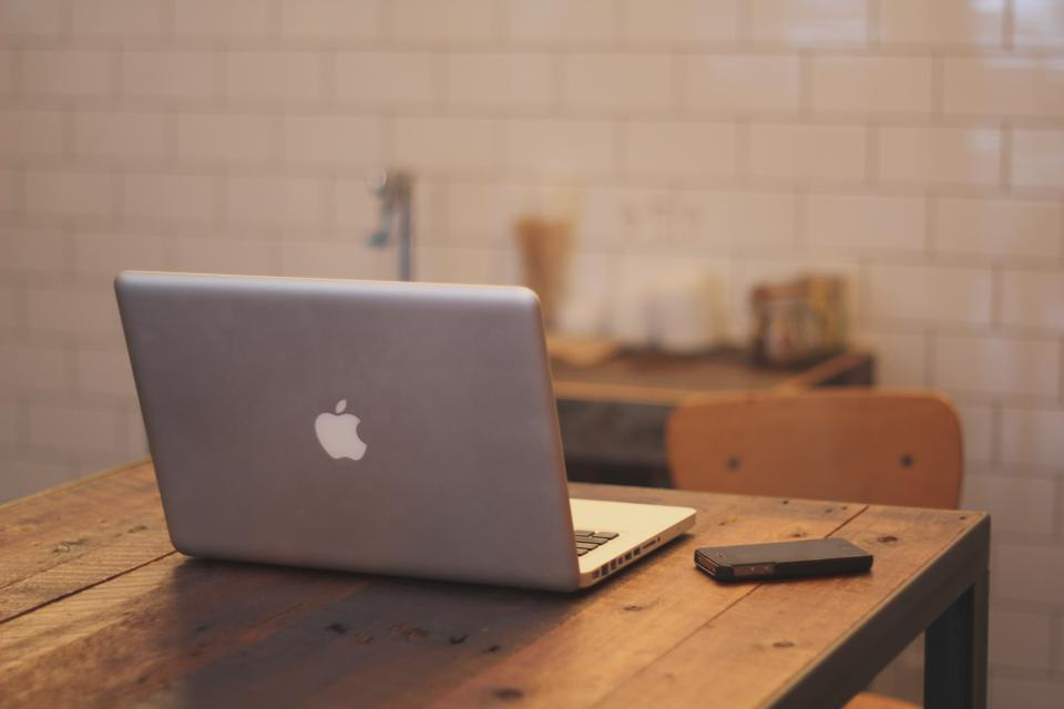 wood tiles technology table MacBook laptop iphone chair business apple