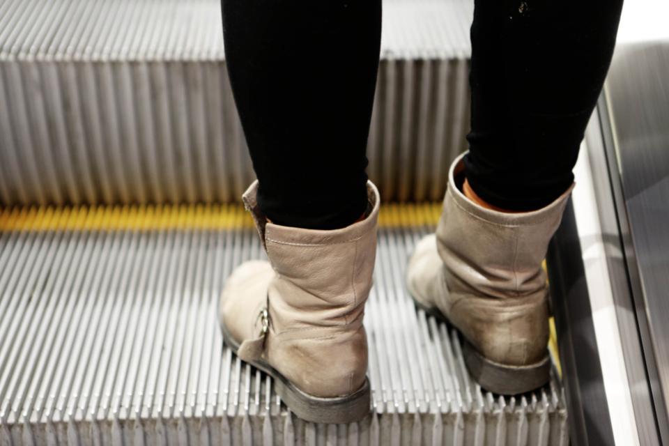 subway pants escalator boots