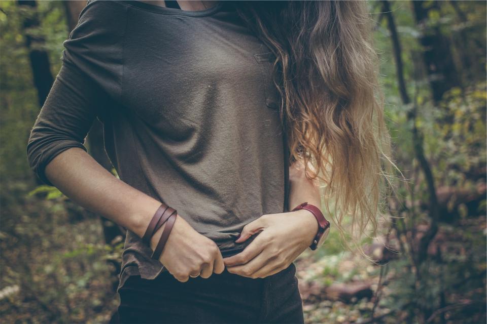 woman watch people model longhair girl fashion bracelet