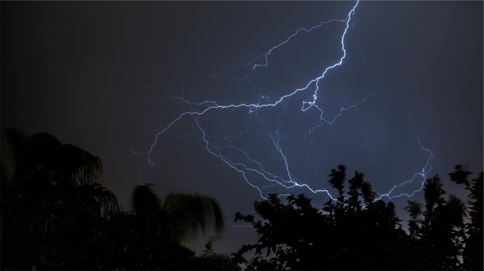 sky night lightning dark