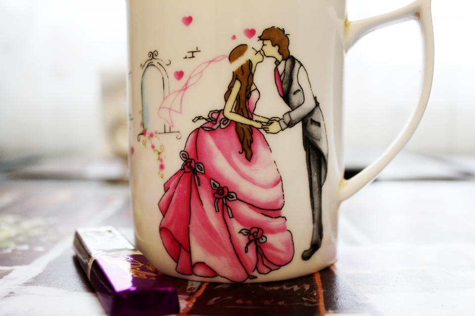 romance princess mug love cup