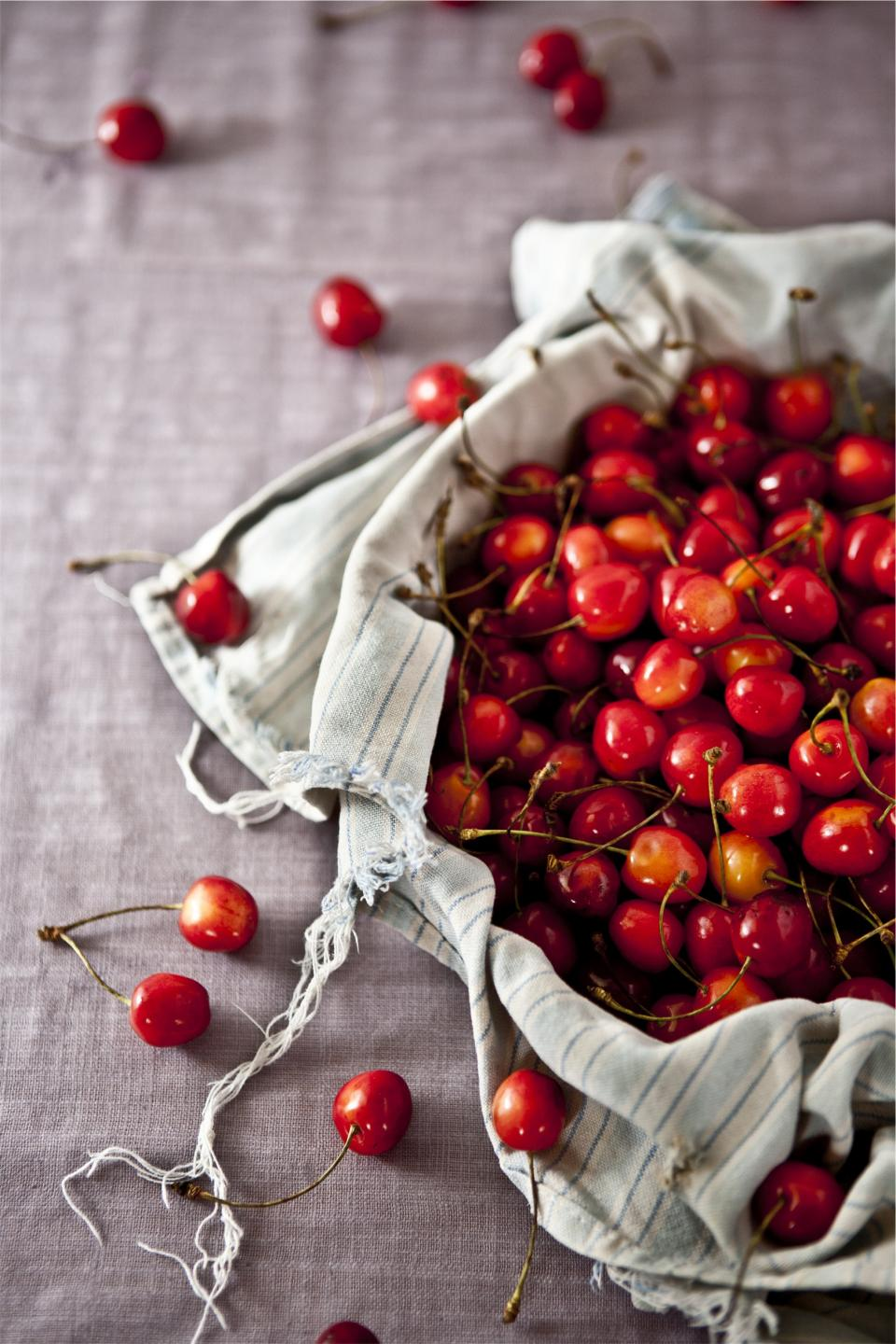 Healthy fruits food cherries