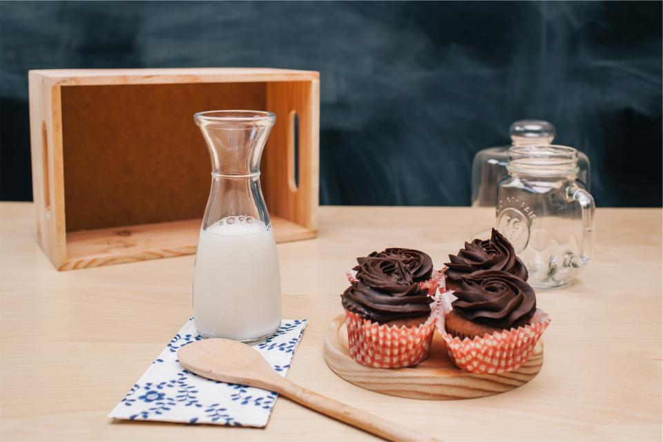 woodenspoon treats sweets snack milk kitchen jar icing glass food dessert cupcakes