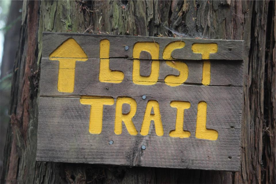 Trail sign lost
