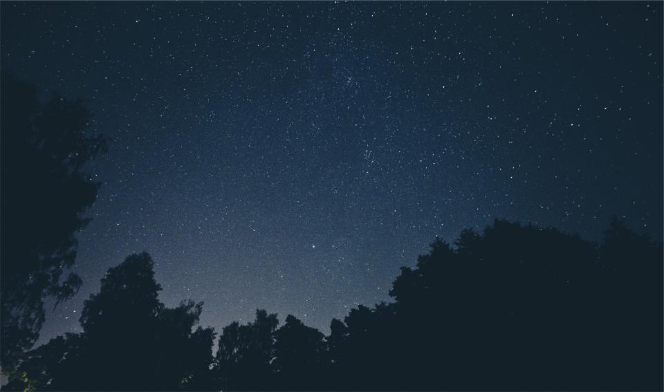 stars space sky silhouette night galaxy evening dark