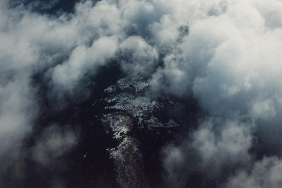 above the clouds aerial view - WeLoveSoLo