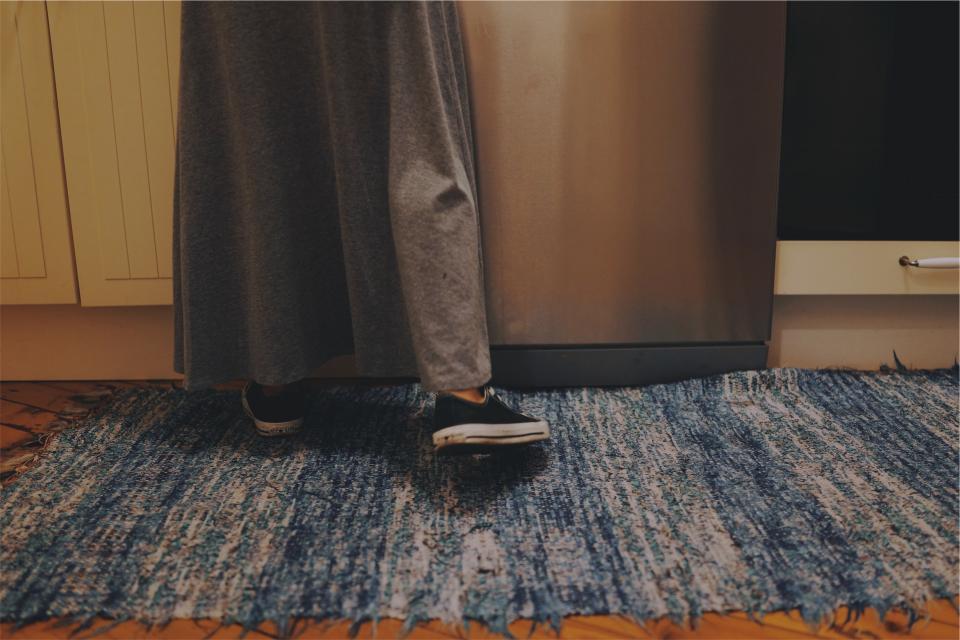 sneakers shoes rug kitchen floor dress cupboards