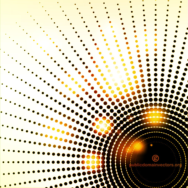 vector rays radial lights glowing free dotted dark circle background abstract