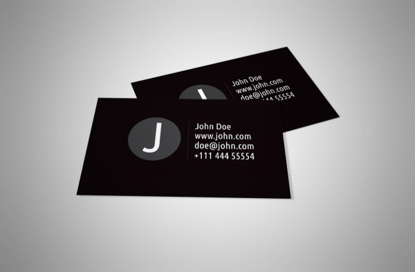 white vector free vector template personal design business card black