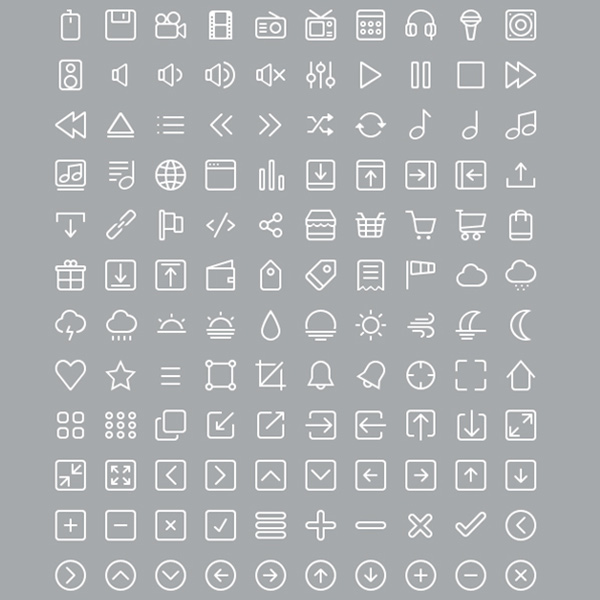 stroke pack set outline minimal line icons glyph icons glyph free