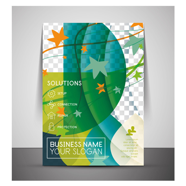 nature leaves free flyer cover corporate concept business brochure abstract