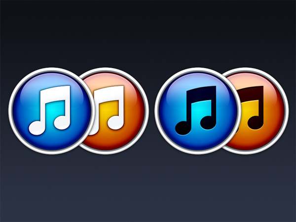 4 Colorful Styles iTunes 11 Icons Set - WeLoveSoLo