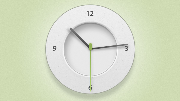 white web unique ui elements ui stylish simple clock icon psd second quality original new modern minute minimal interface hour hi-res HD hands green fresh free download free elements download detailed design creative clock icon clean