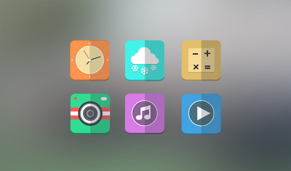 web weather unique ui elements ui stylish set rounded quality play original new music modern mobile interface icons hi-res HD fresh free download free folded psd flat icons flat elements download detailed design creative clock clean camera calculator