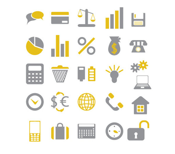 vector set iconika office icons free download free financial corporate business banking
