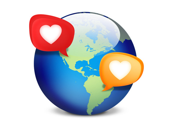 world map ui elements speech bubbles social psd interface icon heart globe free download free earth download dating chat