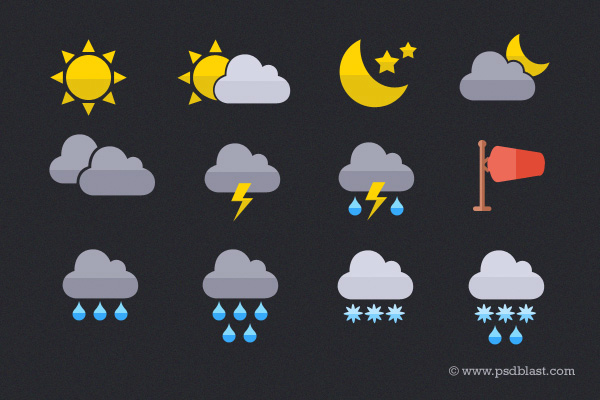 weather icon set ui elements set psd metro interface icon free download free flat icon download