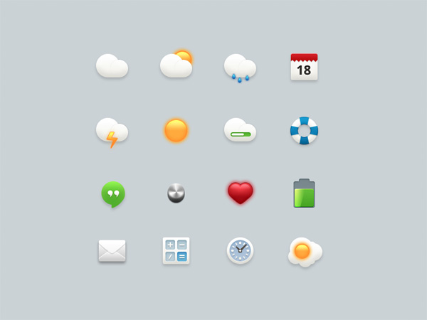 weather icons volume ui elements psd mixed mail interface icons free download free download clock chat cartoon calendar calculator