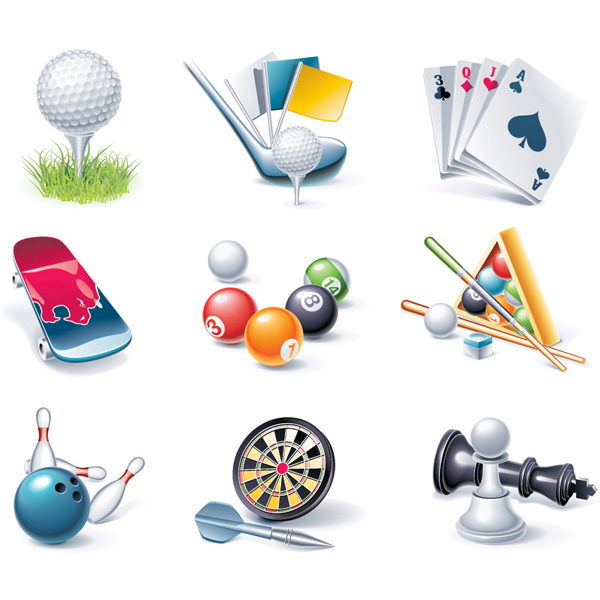 vector sports entertainment. icon skate boarding set ntertainment and games vector icons - golf icons golf icon golf games free download free darts chess cards bowling billiards balls