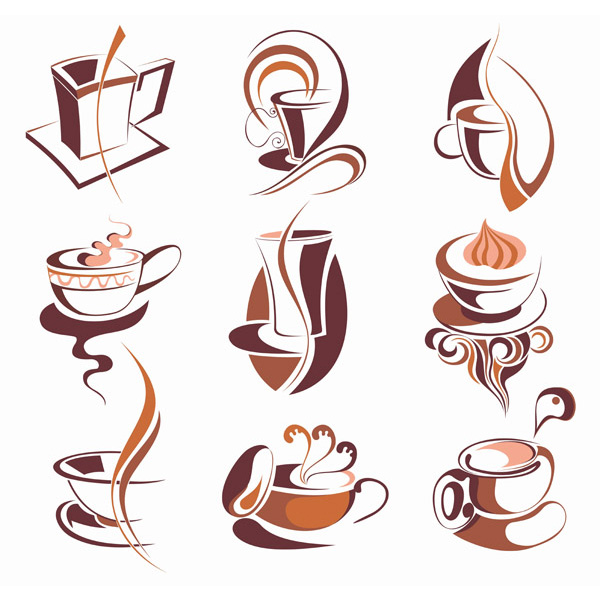 vector steaming set lattes illustration icons icon graphics free download free espresso coffee shop tea coffee cup coffee cappuccino