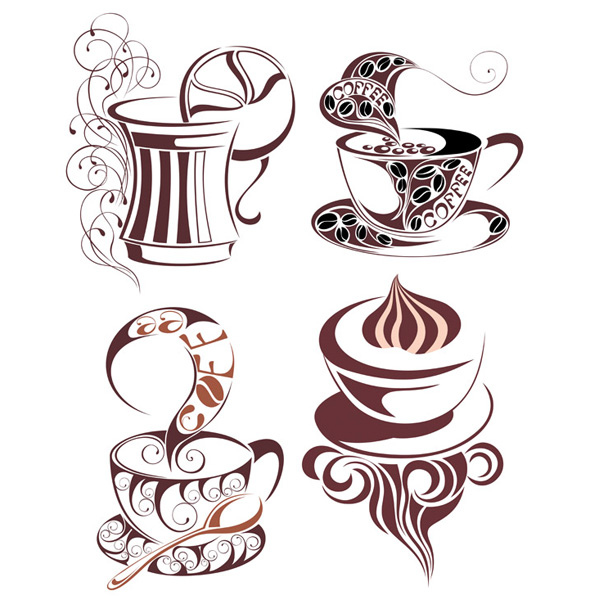 vector tea cup tea steaming set specialty coffee icons icon free download free espresso decorated cup coffee cup coffee cappuccino artistic