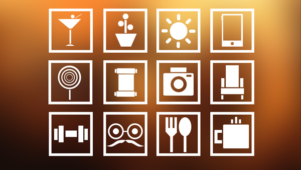 ui elements sun square restaurant lifestyle icons gym free download free flat download device coffee cocktail camera
