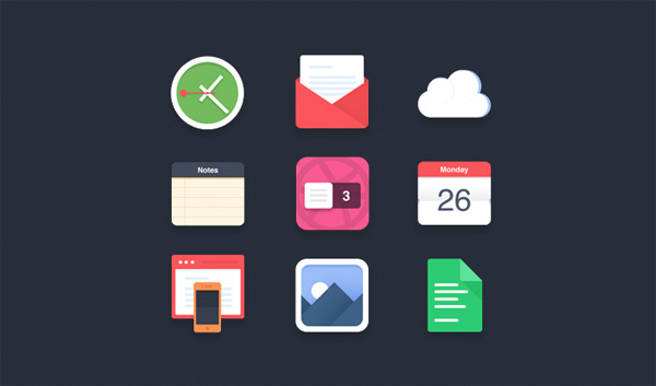 windows 8 ui elements pics notes metro mail icons icon free download free flat download docs set desktop icon colorful cloud clock calendar