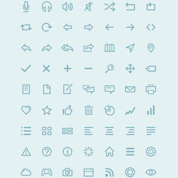 webfont vector ui elements set pack outline icons outline minimal icons free download free dripicons download