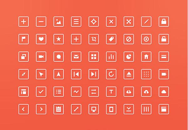 ui elements ui square icons square pack set orange line icons free download free